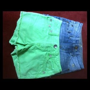Girl's denim shorts 2 pair size 8 slim by Justice